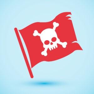 Viktigt vid företagskapning piratflagga